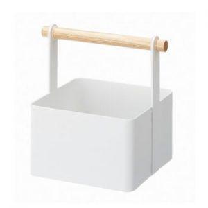 Cutie multifunctionala YAMAZAKI Tosca Tool Box S, alb, lungime 16 cm