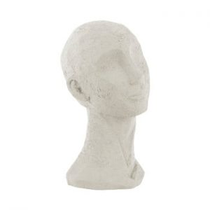Statueta decorativa PT LIVING Face Art, inaltime 28,4 cm, alb fildes