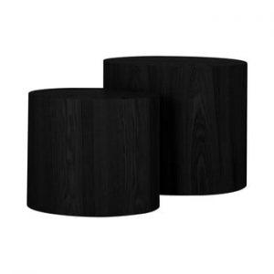 Set 2 masute auxiliare Canett Odnes, negru