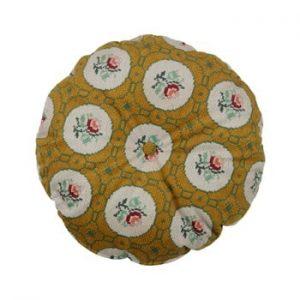 Perna rotunda decorativa BePureHome Granny, ø 45 cm, galben