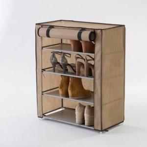 Pantofar textil patrat Compactor Shoes, bej