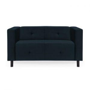 Canapea cu 2 locuri Vivonita Milo, albastru inchis