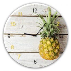 Ceas de perete Styler Glassclock Pineapple, ⌀ 30 cm