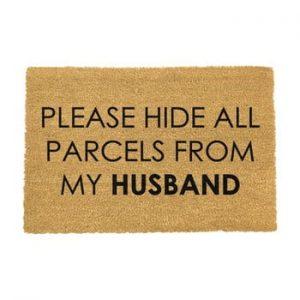Covoras intrare din fibre de cocos Artsy Doormats Please Hide, 40 x 60 cm