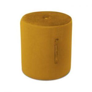 Puf Mazzini Sofas Fiore, ⌀ 40 cm, portocaliu