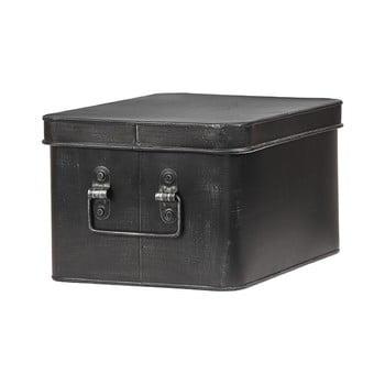 Cutie metalica pentru depozitare LABEL51 Media, latime 27cm, negru