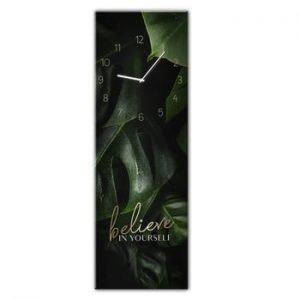Ceas de perete Styler Glassclock Believe, 20 x 60 cm