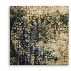 Tablou Styler Canvas Silver Uno Zambino, 65 x 65 cm
