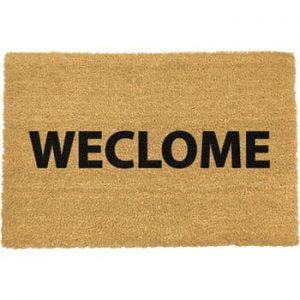 Covoras intrare din fibre de cocos Artsy Doormats Weclome Funny, 40 x 60 cm