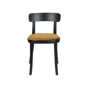Set 2 scaune cu sezut maro-galben Dutchbone Brandon, negru