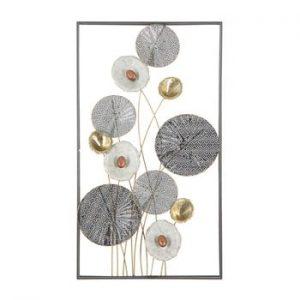 Decoratiune metalica pentru perete Mauro Ferretti Grid, 50x90,5cm