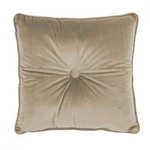 Perna Tiseco Home Studio Velvet Button, 45x45cm, bej