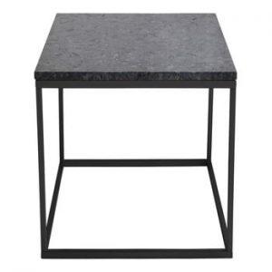 Masuta auxiliara RGE Accent, blat din granit, 50 cm, negru