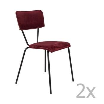 Set 2 scaune Dutchbone Melonie, bordo