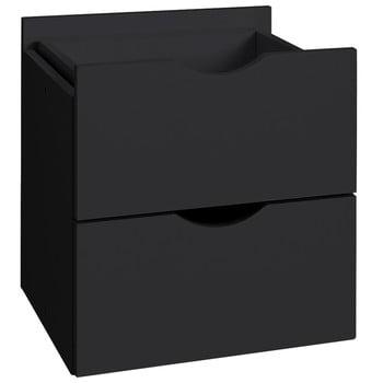 Sertar dublu pentru raft Støraa Kiera, 33 x 33 cm, negru
