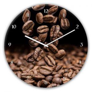 Ceas de perete Styler Glassclock Coffee Seeds, ⌀ 30 cm