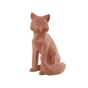 Statueta PT LIVING Origami Fox, inaltime 26 cm, maro mat