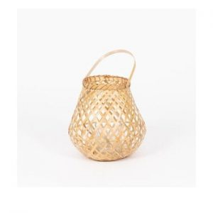 Felinar din bambus Compactor Bamboo Lantern, ⌀ 25 cm, natural