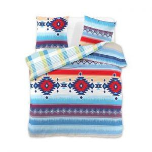 Lenjerie pentru pat dublu, din bumbac, DecoKing Aztec, 200 x 220 cm