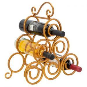 Suport pentru sticle de vin Mauro Ferretti, auriu