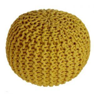 Puf pentru copii Nattiot Lili, galben mustar