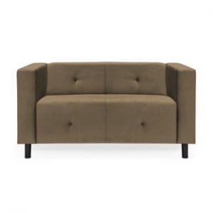 Canapea cu 2 locuri Vivonita Milo, maro deschis