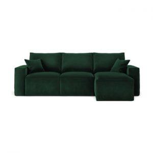 Coltar cu sezlong pe partea dreapta Cosmopolitan Design Florida, verde inchis