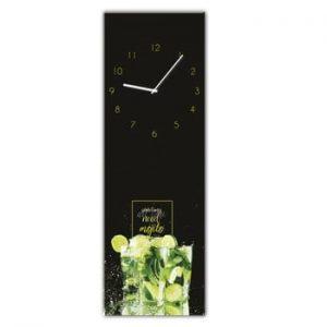 Ceas de perete Styler Glassclock Mojito, 20 x 60 cm