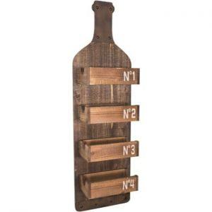 Raft din lemn pentru perete Antic Line Bottle