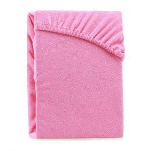 Cearsaf elastic pentru pat dublu AmeliaHome Ruby Pink, 180-200 x 200 cm, roz