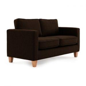 Canapea cu 2 locuri Vivonia Sorio, maro inchis