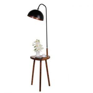 Lampadar cu masuta auxiliara Opviq lights, negru