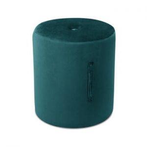 Puf Mazzini Sofas Fiore, ⌀ 40 cm, albastru petrol