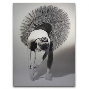 Tablou Styler Canvas Glam Balerina, 60 x 80 cm