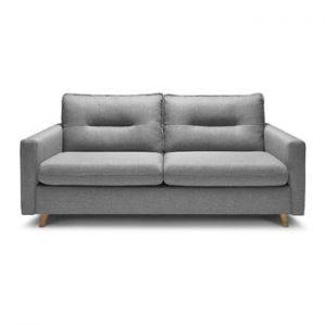 Canapea extensibila cu 3 locuri Bobochic Paris Sinki, gri