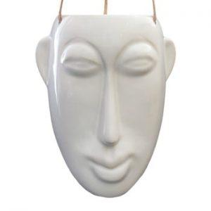 Ghiveci suspendat PT LIVING Mask, inaltime 22,3 cm, alb