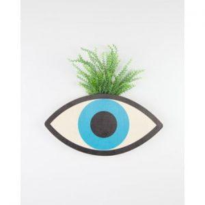 Ghiveci de perete din lemn de fag Surdic Blue Eyes