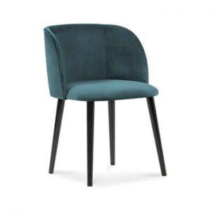 Scaun cu invelis de catifea Windsor & Co Sofas Aurora, albastru petrol