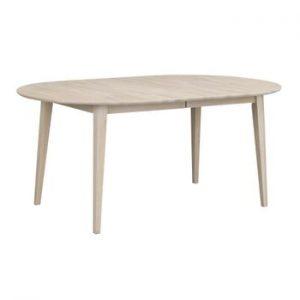 Masa extensibila ovala din lemn de stejar Rowico Mimi, lungime pana la 210 cm, culoare deschisa
