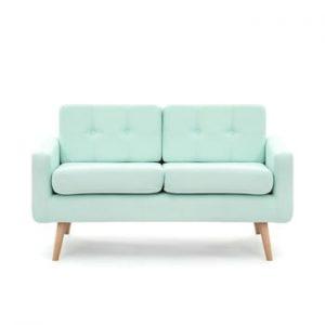 Canapea pentru 2 persoane Vivonita Ina, verde pastel