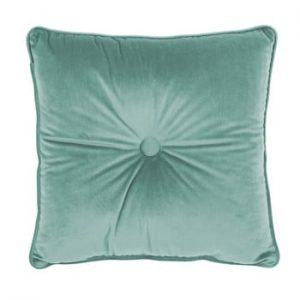 Perna Tiseco Home Studio Velvet Button, 45 x 45 cm, verde deschis