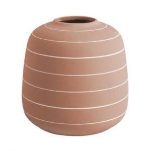 Vaza din ceramica PT LIVING Terra, ⌀ 16,5 cm, caramiziu
