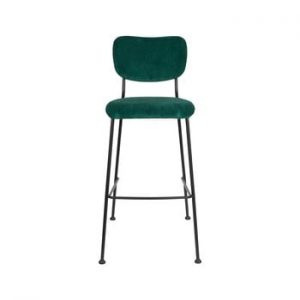Set 2 scaune de bar Zuiver Benson, inaltime 102,2 cm, verde inchis