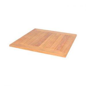 Blat din lemn de tec pentru masa de gradina Ezeis Typon, 67 x 67 cm