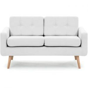 Canapea pentru 2 persoane Vivonita Ina, gri deschis