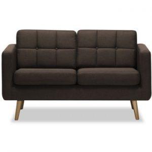 Canapea cu 2 locuri Vivonita Magnus, maro inchis