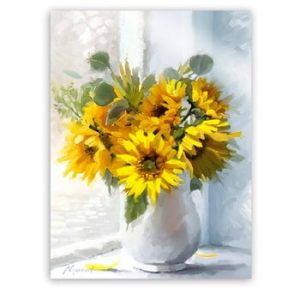 Tablou Styler Canvas Flowers Sunflowers, 60 x 80 cm