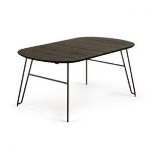 Masa La Forma Norfort, lungime 170/320 cm, negru