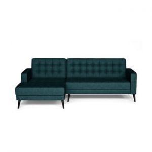 Canapea cu extensie pe partea stanga Corinne Cobson Home Home Boston, albastru inchis