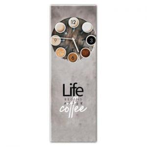 Ceas de perete Styler Glassclock Coffee Love, 20 x 60 cm